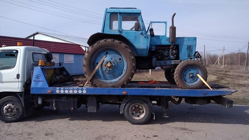 Перевозка трактора МТЗ-80
